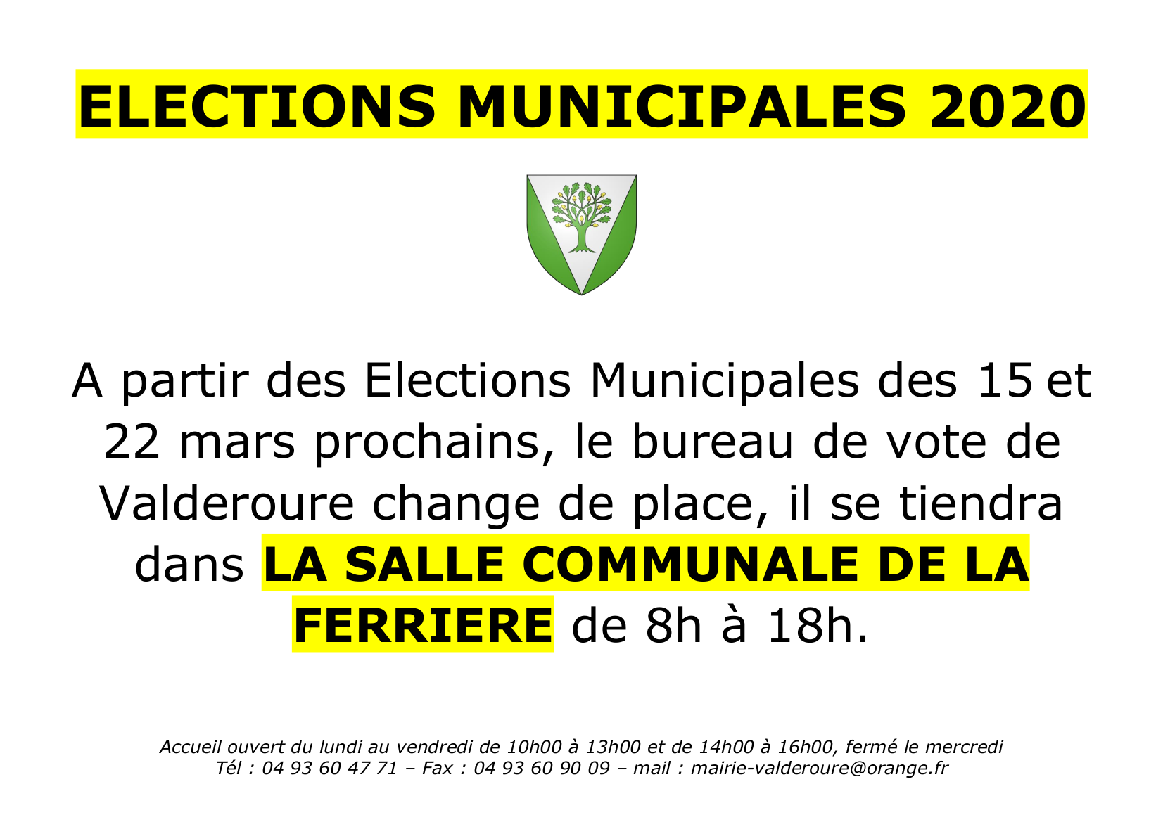 ELECTION MUNICIPALE 2020